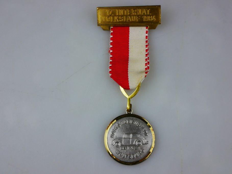 Medaille 17. Internationaler Volkslauf 1984 Wolfsburg VW Käfer medal bug 110359