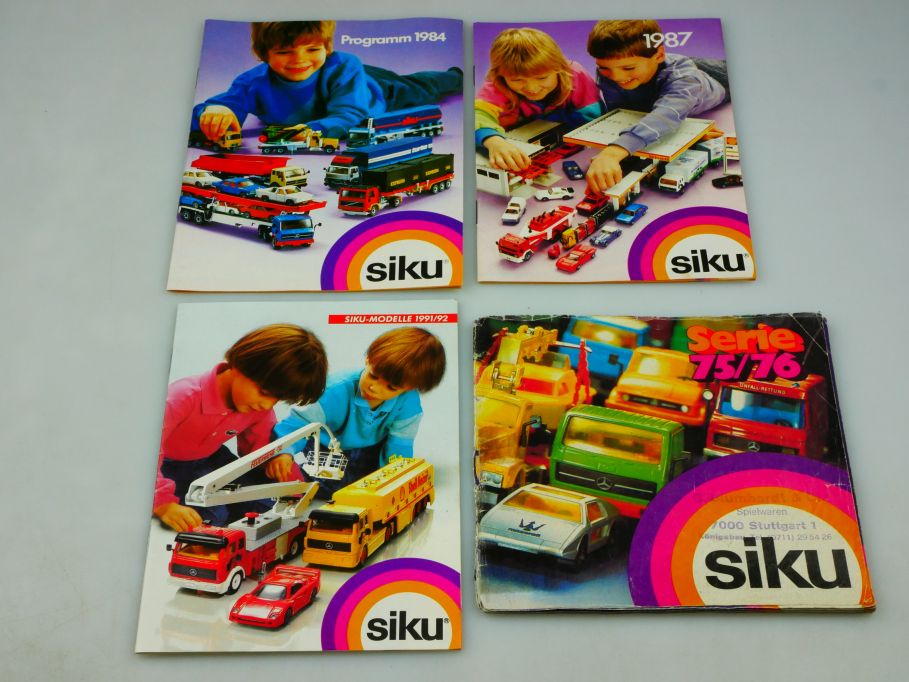 4x Siku Katalog 1975/76 1984 1987 1991/92 vinateg diecast toy catalog 110351