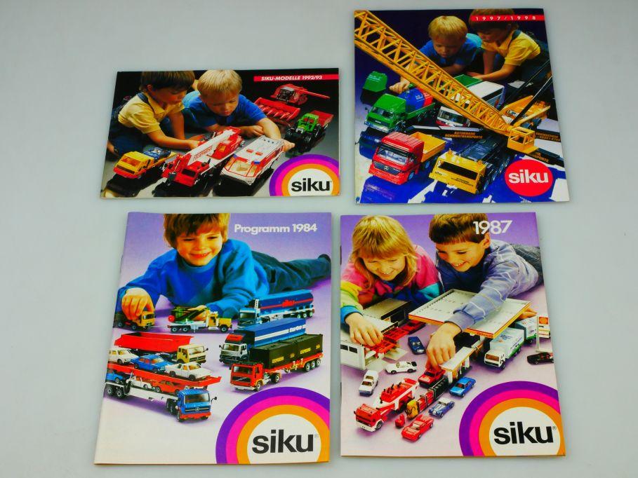 4x Siku Katalog 1984 1987 1992/93 1997/1998 diecast toy catalog 110353