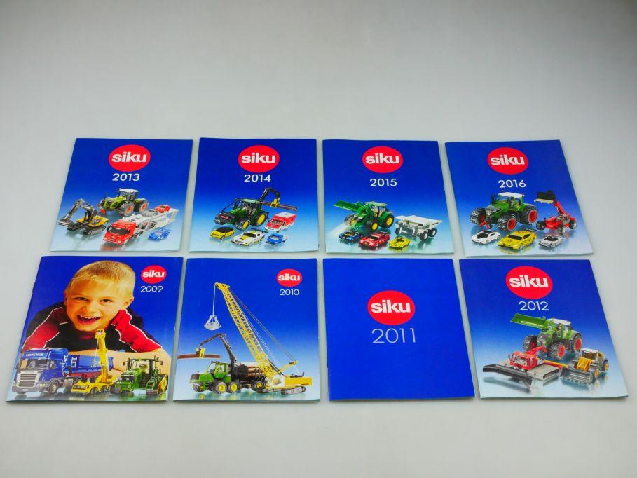 8x Siku Katalog 2009 2010 2011 2012 2013 2014 2015 2016 diecast catalog 110355