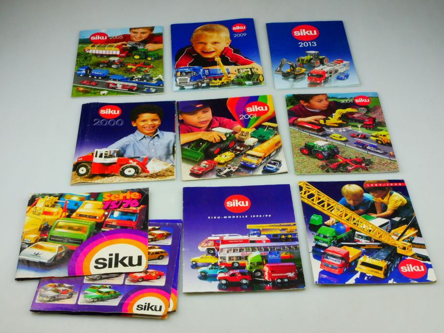 9x Siku Katalog 1975/76 1995/96 1997/98 2000 2001 2004 2005 09 13 catalog 110356