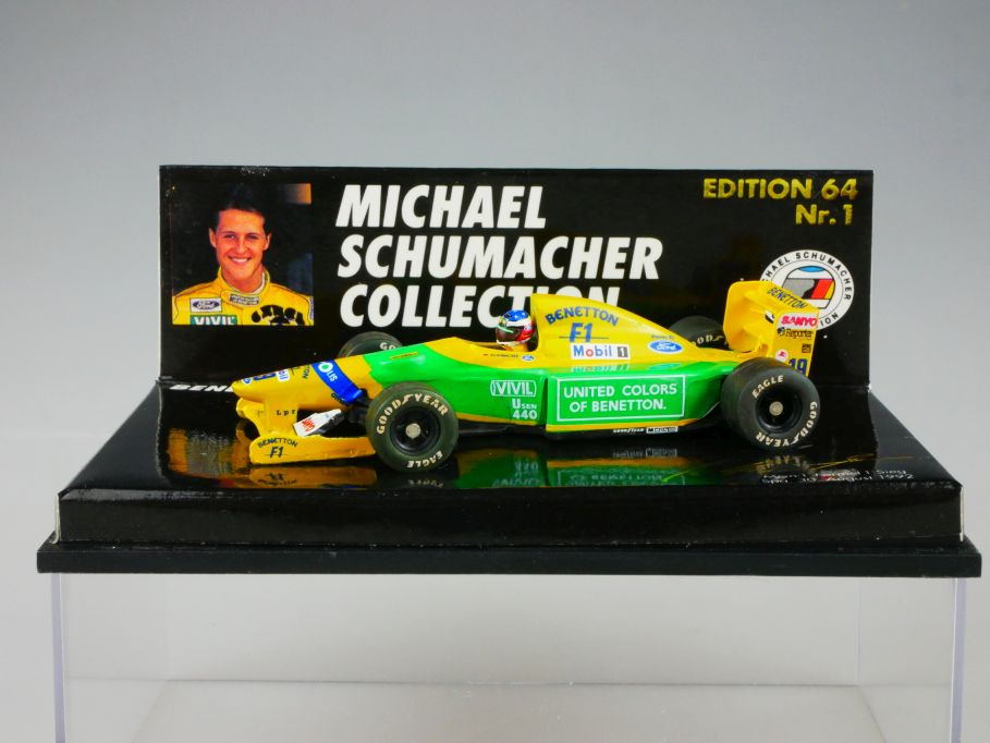 Minichamps Michael Schumacher No 1 Benetton B192 F1 Spa Editition 64 Box 110363