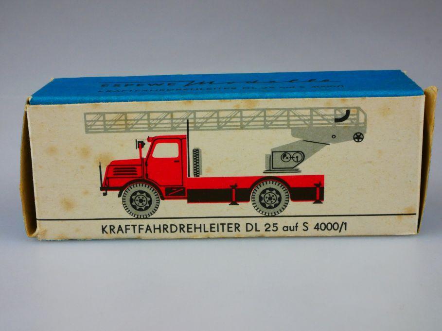 Espewe 1014/3 LEERE EMPTY BOX Kraftfahrdrehleiter DL 25 S 4000/1 H0 DDR 110414