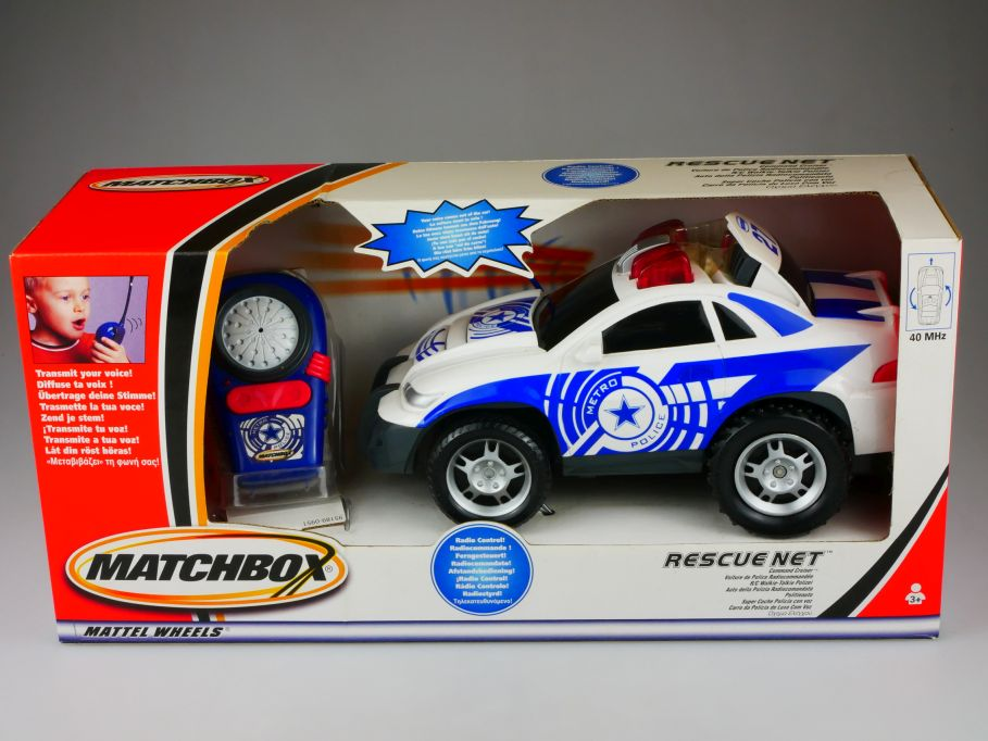 Matchbox RC Rescue Net Metro Police motorized Command Cruiser Walkie Talk 110416