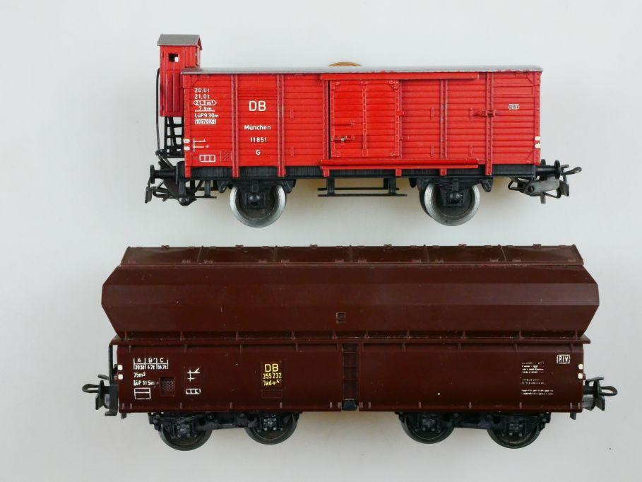 2 Trix H0 AC für Märklin Güterwagen 610 Selbstentladewagen Klappdeckel DB 110425