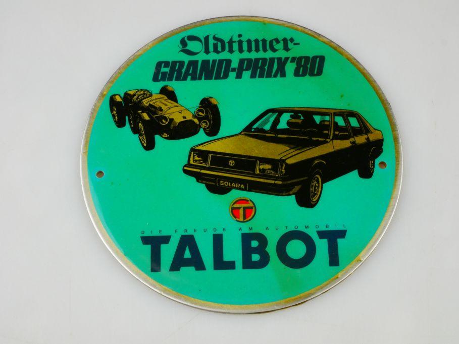 TALBOT Oldtimer Grand Prix ´80 GP 1980 vintage badge Plakette 110428