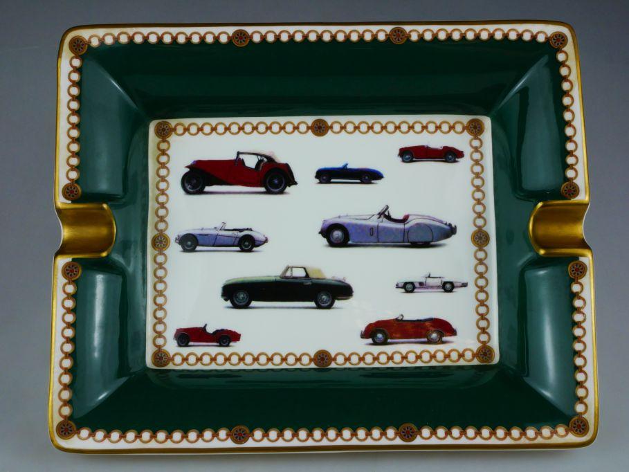 Porzellan Roadster Aschenbecher Oldtimer Autos PKW ashtray finebone china 110440