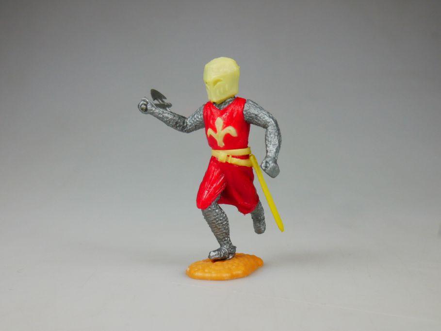 TIMPO Topf Helm Ritter rot Helm Blume Gürtel hell weiß-gelb selten 110480