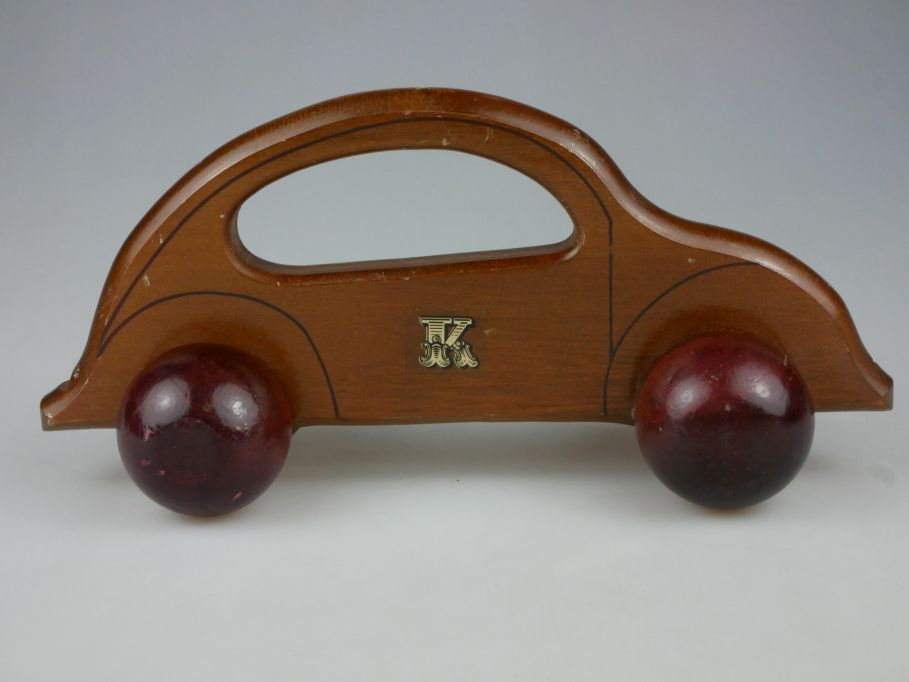 Massageroller Volkswagen Käfer Holz wood Massager VW beetle Deko 110494