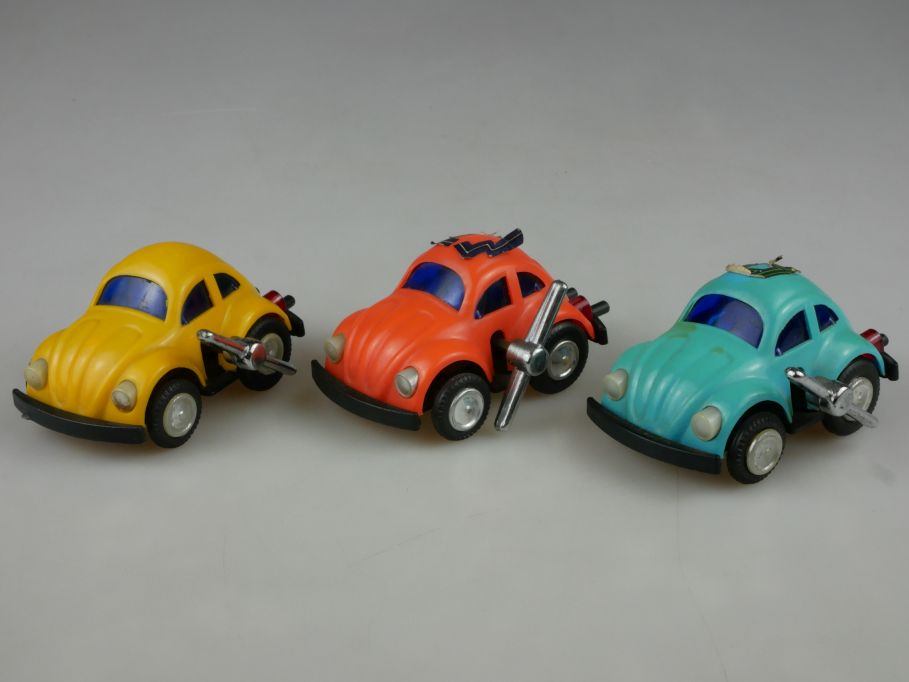 3x Hong Kong Toy VW Käfer 80s Volkswagen Aufzug beetle bug wind up Motor 110497