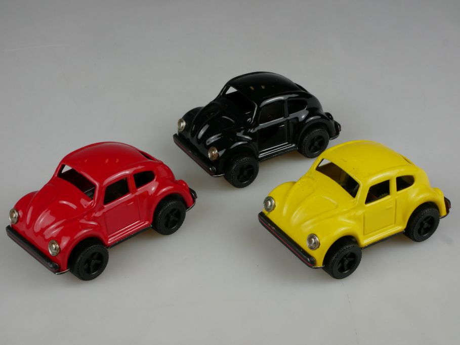 3x Volkswagen Friction VW Käfer toy beetle bug vintage diecast toy 110502