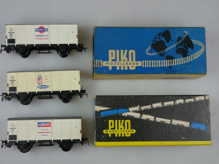Piko H0 DC 3x Ital. Güterwagen Kühlwagen FS Martini Bertolli Cinzano OVP 110542
