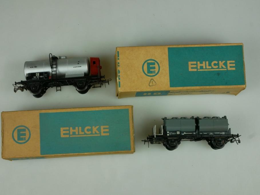 Ehlcke DOR H0 DC Güterwagen Kalkkübelwagen Kesselwagen in OVP 110551