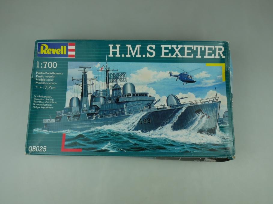 Revell 1/700 H.M.S. Exeter No 05025 OVP ship model kit 110512