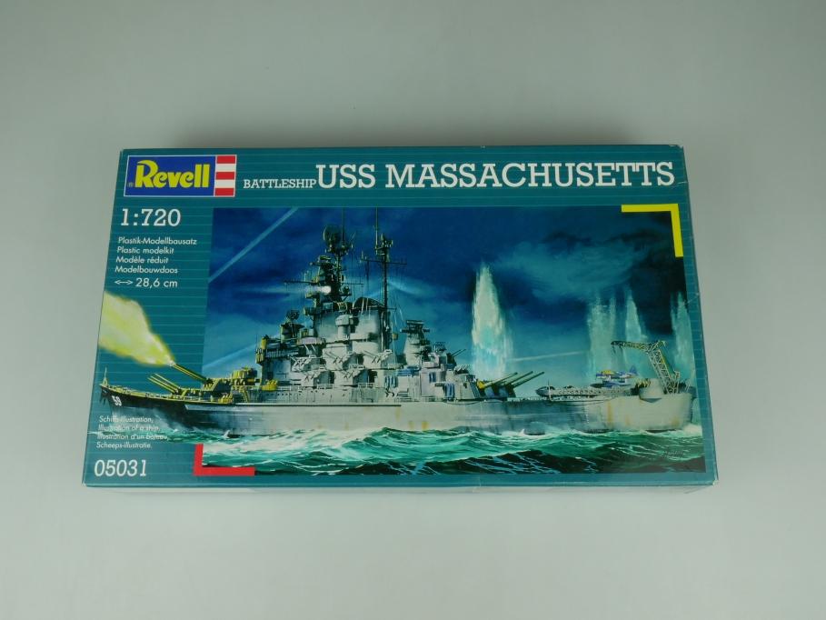 Revell 1/700 Battleship USS Massachusetts No 05031 OVP kit 110517