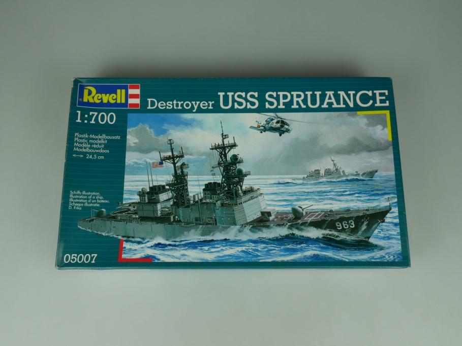 Revell 1/700 Destroyer Uss Spruance No 05007 w/ Box ship model kit 113334