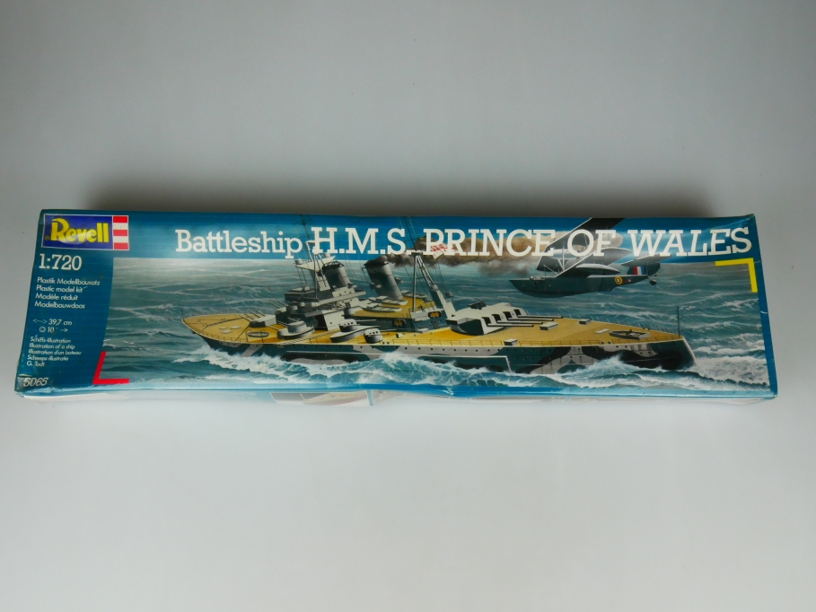 Revell 1/720 Battleship H.M.S. Prince of Wales No 05065 OVP kit 110525
