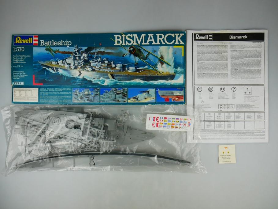 Revell 1/570 Battleship Bismark No 05036 OVP kit 110526