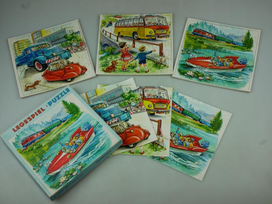 Legespiel-Puzzle So fahren wir! 3 Bilder No 625 7641 OVP vintage 110552