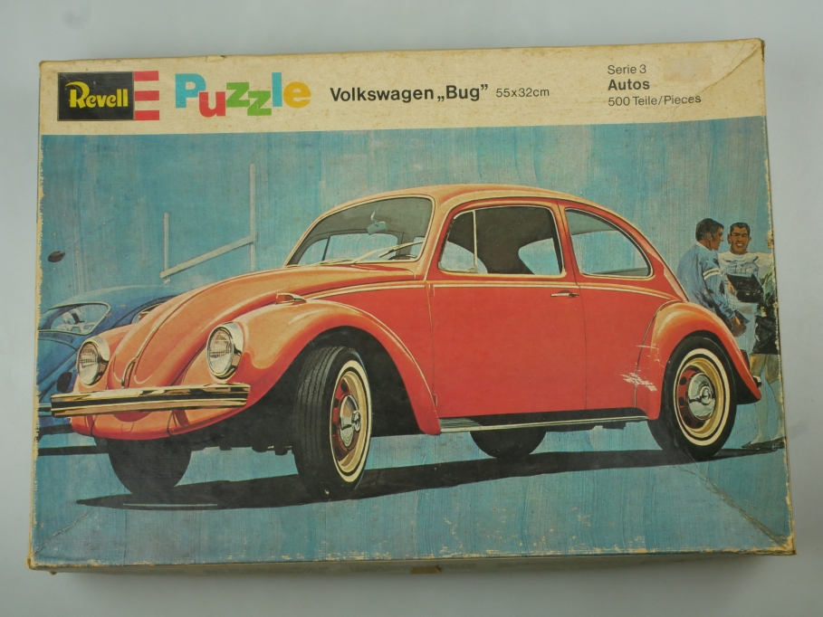 "Revell Puzzle Volkswagen ""Bug"" 55x32cm 500 Teile P-4702 OVP vintage 110554"