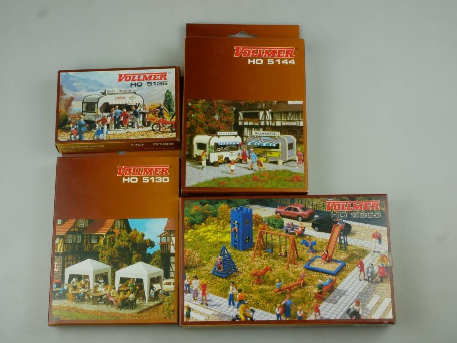 Vollmer H0 Konvolut Bausätze Verkaufswagen 5144 3665 5130 5135 kit OVP 110567