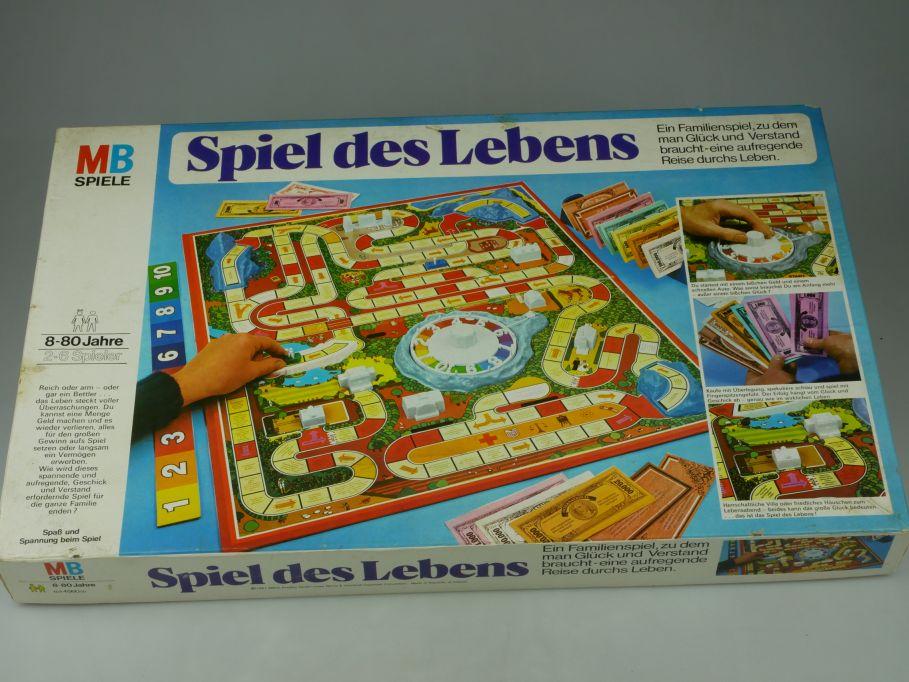 Das Spiel des Lebens - MB Spiele 1981 Kult Gesellschaftsspiel 4560 + Box 110563