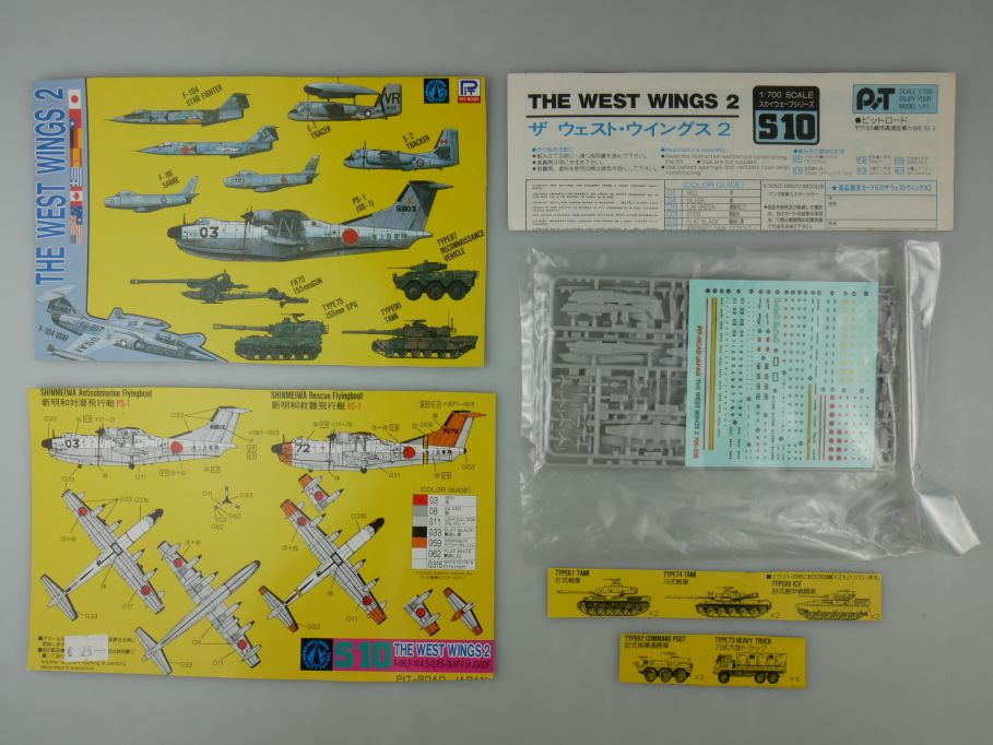 Pit-Road 1/700 The West Wings 2 plane and tank S10 kit 110597