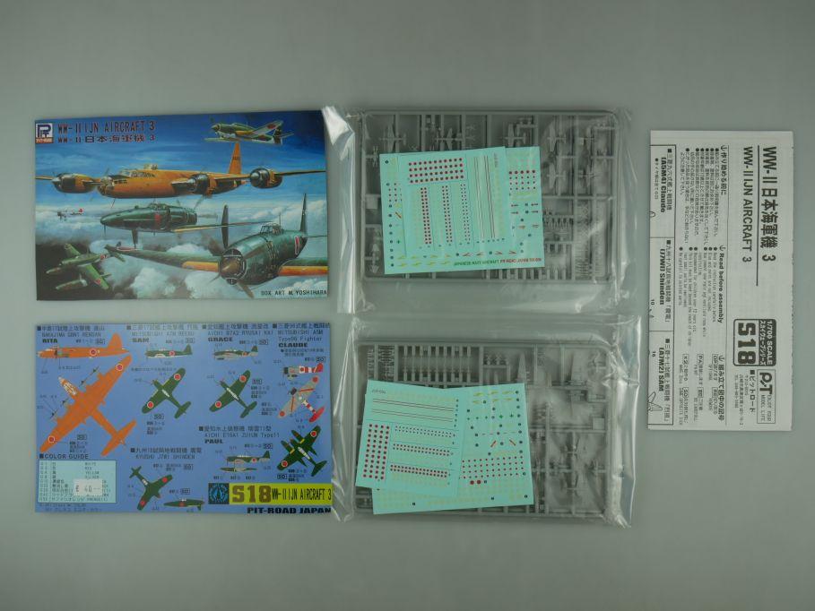 Pit-Road 1/700 2x WW-II I JN Aircraft 3 S18 OVP plane model kit 110599