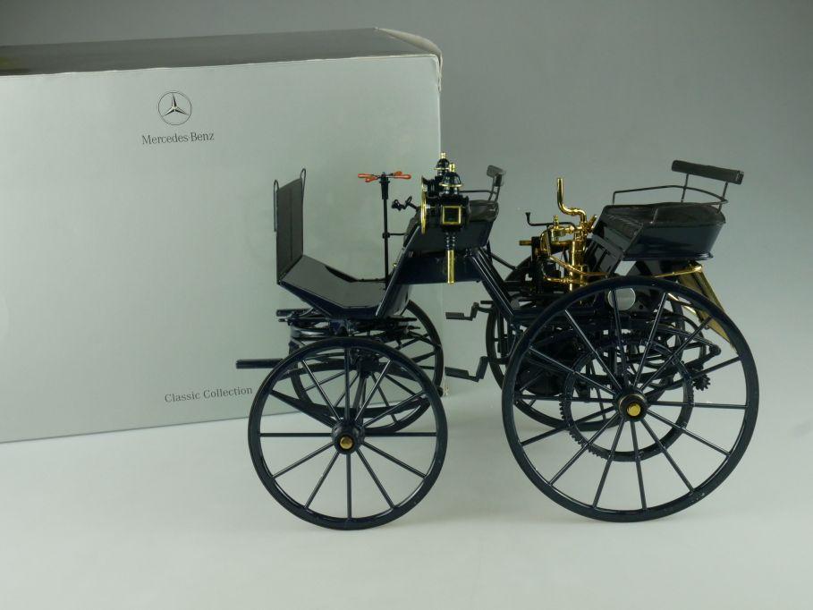 1/10 Daimler Motor Coach Kutsche 1886 in Mercedes-Benz Box Rare Vanbo 110627