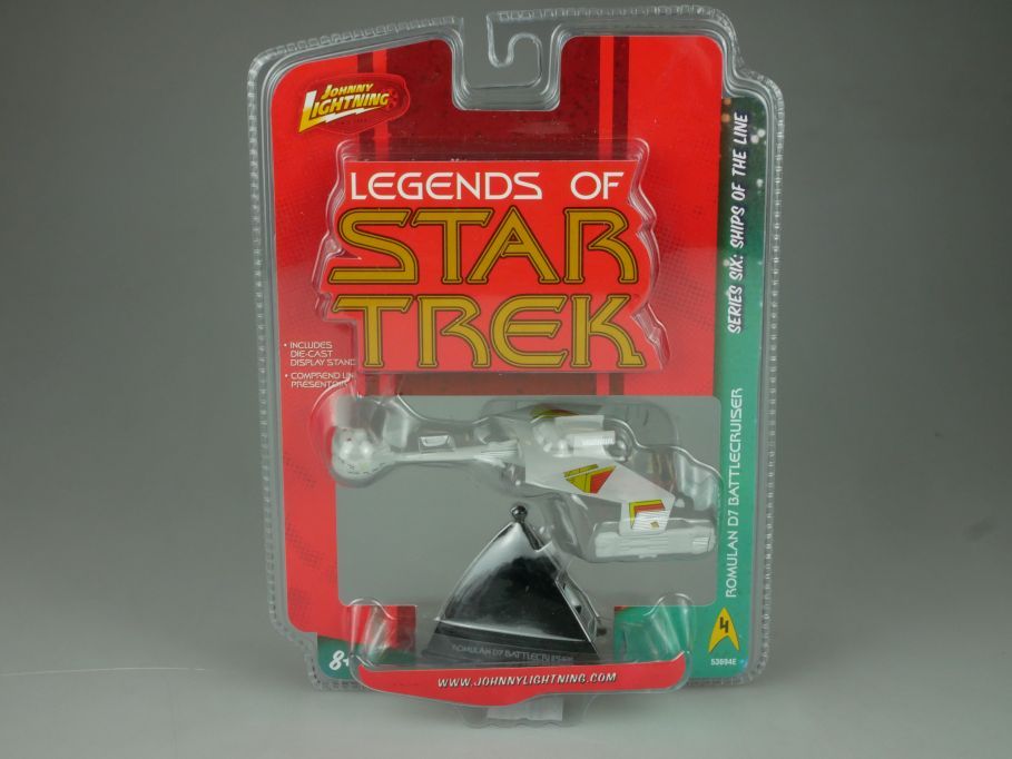 Johnny Lightning Legends of Star Trek Romulan D7 Battlecruiser Series 6 110706