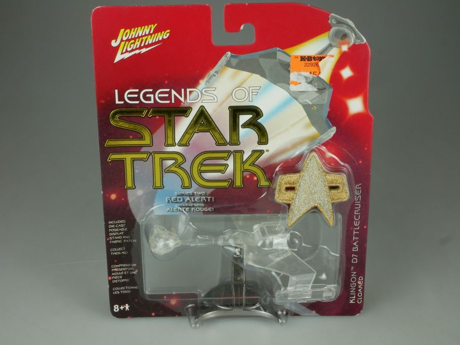 Johnny Lightning Legends of Star Trek Klingon Cloaked D7 Battlecruiser S2 110709