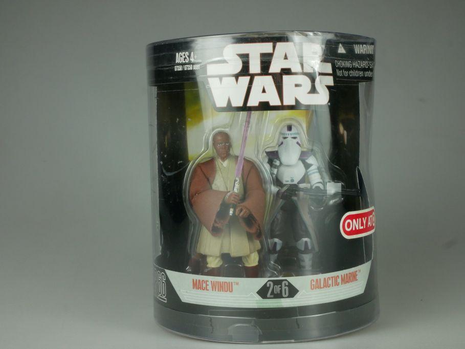Star Wars 30th Anniv. Order 66 Mace Windu + Galactic Marine 2006 Hasbro 110744