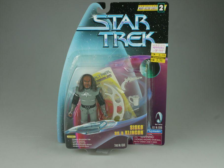 Star Trek SISKO as a Klingon Action Figur Playmates 65100 65101 Blister 110750