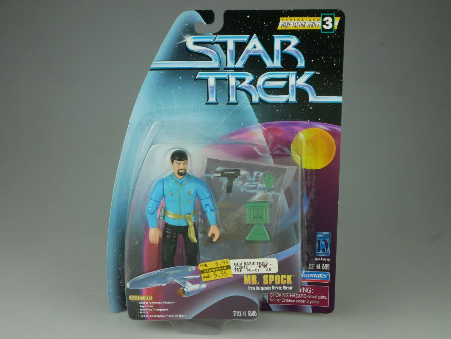Star Trek Mr. Spock Ep Mirror Mirror Playmates Action Figur 65105 Blister 110753