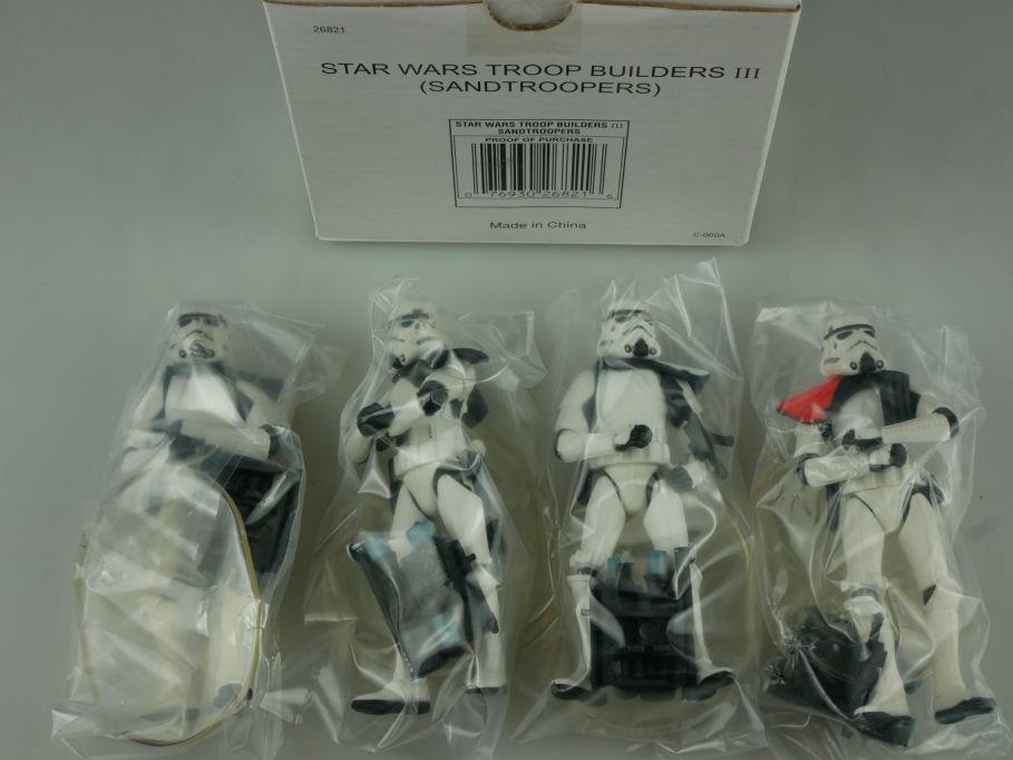 Star Wars POTF 4 pack Sandtroopers Troop Builders III Hasbro 26821 Box 110748