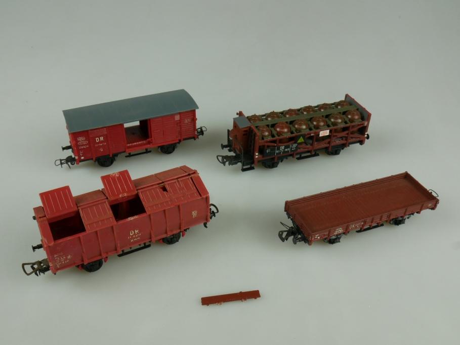 Dietzel Piko H0 Güterwagen Konvolut mit kleinen Gebrauchsspuren ohne OVP 110659