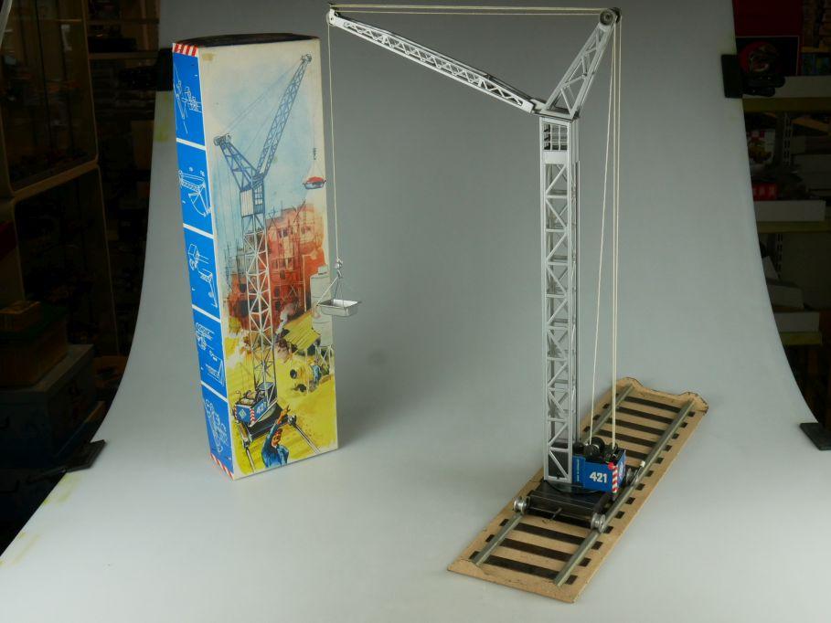 CKO Kellermann 421 Baukran Blechspielzeug crane DBGM germany tin toy Box 110816