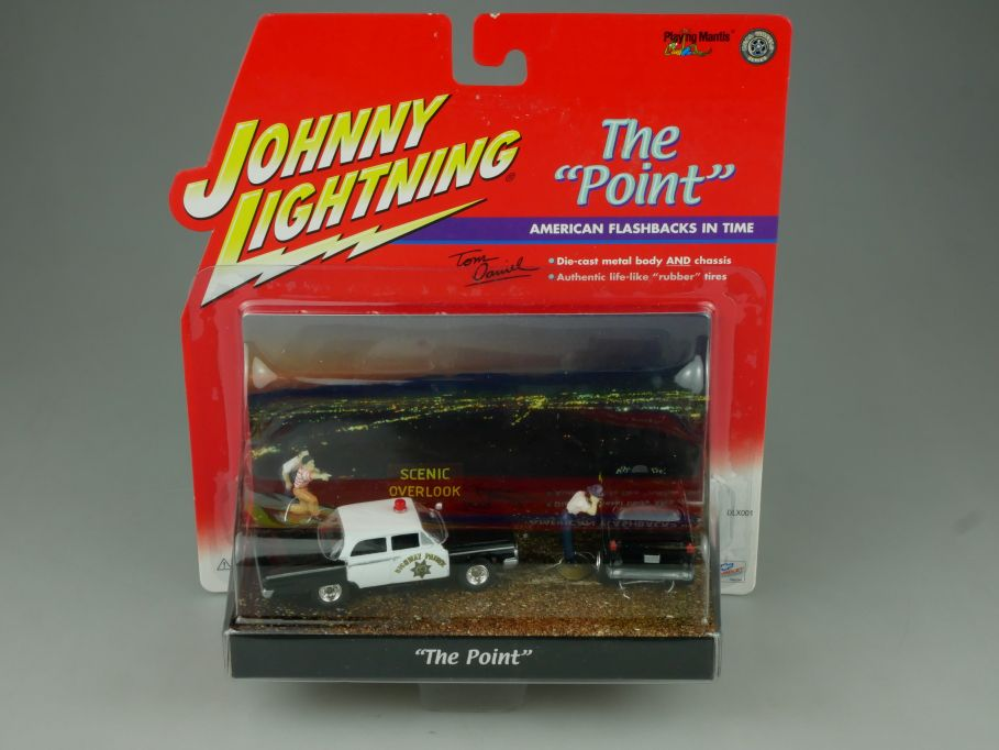 Johnny Lightning The Point Highway Patrol 55´Chevy police control diorama 110761