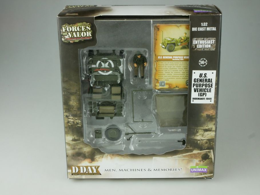 Forces of Valor 1/32 D-Day US General Purpose Vehicle GP 82009 Unimax Box 110836