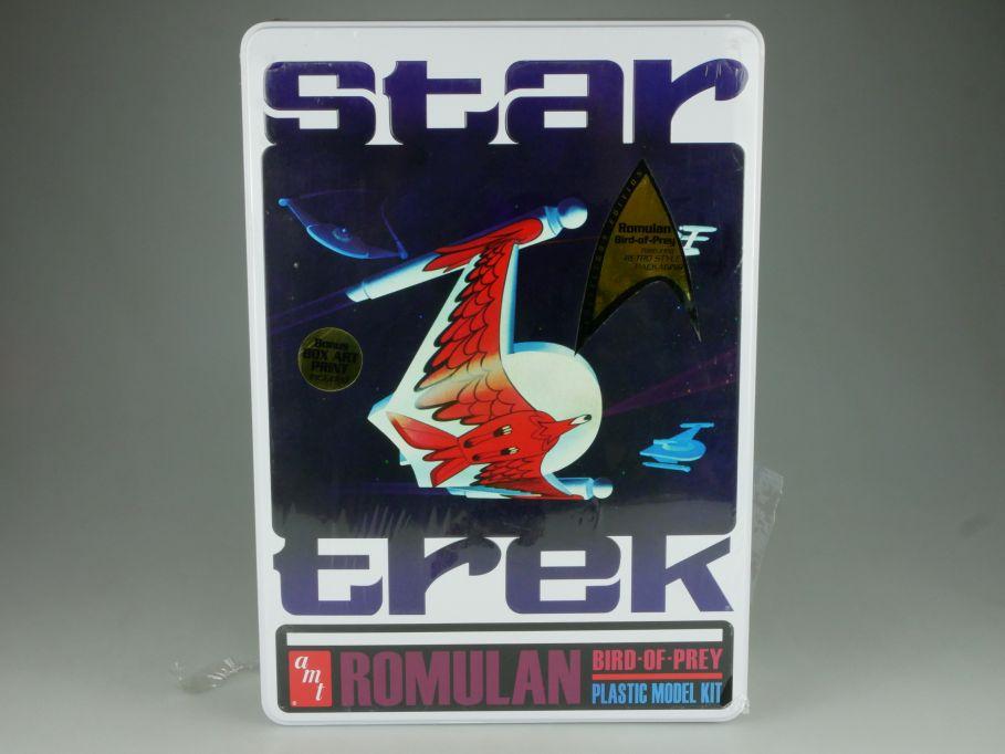 Star Trek 1:650 Romulan bird of prey 33cm plastic model kit amt 666 Box 110865