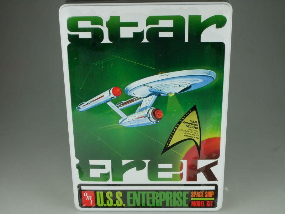 Star Trek 1:650 USS Enterprise space ship plastic model kit amt 640 Box 110866
