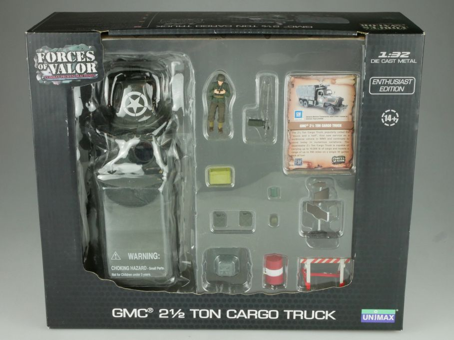 Forces of Valor 1/32 GMC 2 1/2 Ton Cargo US Truck diecast 80085 Box 110839