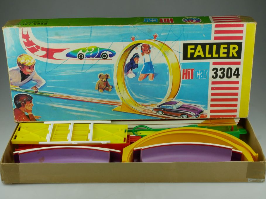 Faller Hit Car 3304 Looping Bahn Katapult BMW 2000 CS Box 110871