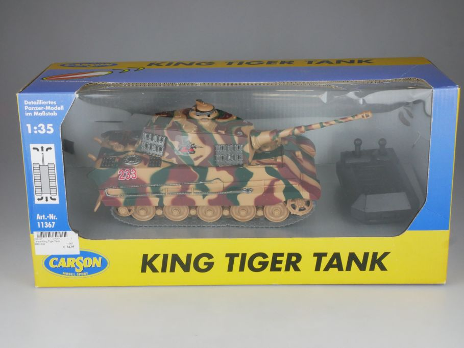 Carson 1/35 infrared controlled King Tiger Tank ferngesteuer Panzer 11367 110872