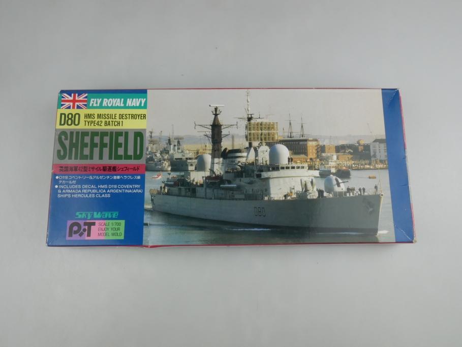 Skywave 1/700 HMS Missle Destroyer Type42 D80 Sheffield SP2 OVP kit 110898