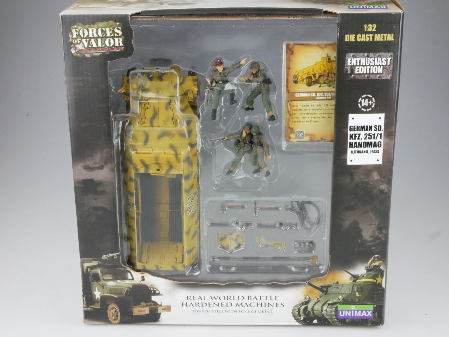 Forces of Valor 1/32 German SD KFZ 251/1 Hanomag Lithuania 1944 81019 Box 111056