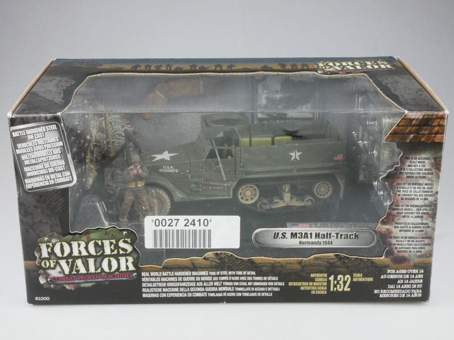 Forces of Valor 1/32 US M3A1 Half-Track 5th Div. Normandy 1944 81014 Box 111060