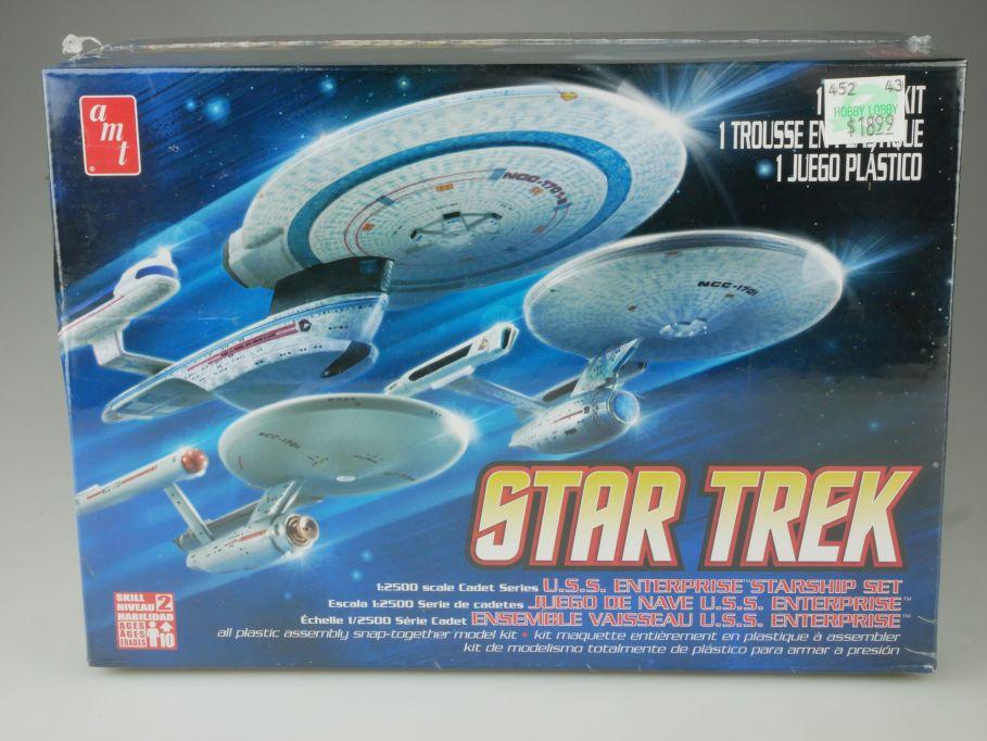 AMT Star Trek U.S.S. Enterprise Set (3in1) 1:2500 Model Kit AMT660 Box 111078
