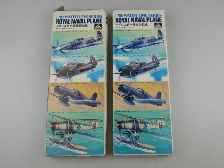 Aoshima 1/700 Water Line Series Inhalt 3x Royal Naval Plane WL100 OVP kit 111028
