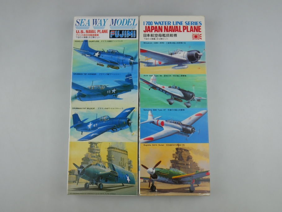 Fujimi 1/700 Sea Way Water Line Series US / 2x Japan Naval Plane OVP kit 111031